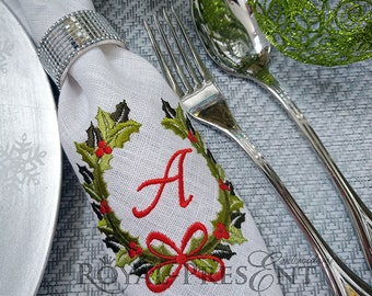 Machine Embroidery Design Christmas Monogram Blank