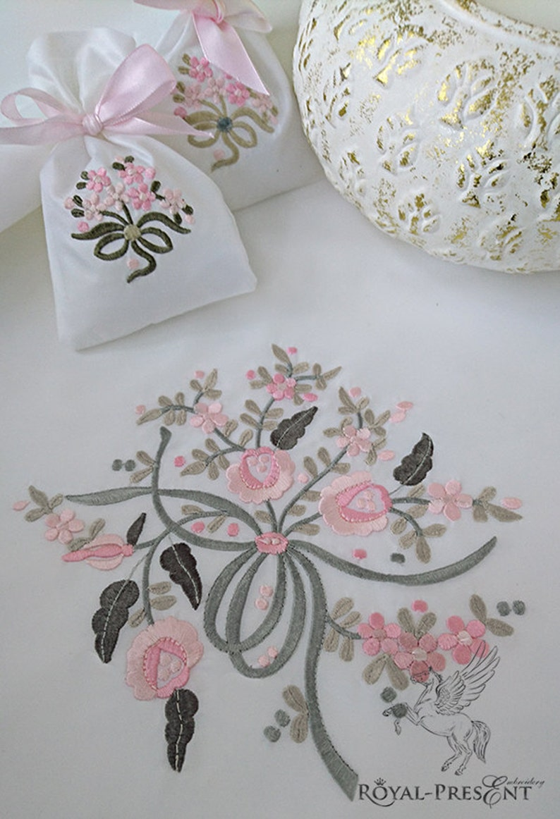 Machine Embroidery Design Flower bouquet 3 in 1 image 0