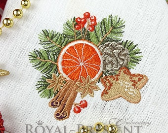 Machine Embroidery Design Christmas decoration - 2 sizes