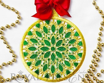Machine Embroidery Design Jewelry Christmas ball - 6 sizes