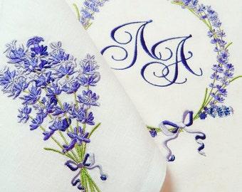 Machine Embroidery Design Fragrant lavender set