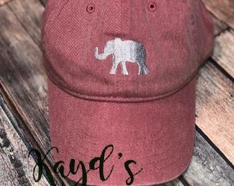 f6162f099eb75 Elephant Hat - football Hat - Comfort Colors Hat - Elephant Cap - Alabama  Hat - Trucker Hat - Baseball Cap - Monogram Hat- Alabama Cap