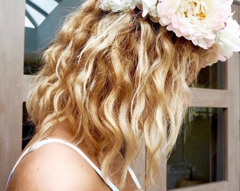 Florence Flower Crown, pink and white flower crown, festival, party, wedding, summer, boho