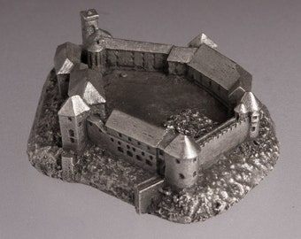 Ljubljana castle historical architecture scale model 1:2000 lead free pewter building figurine souvenir miniature Archiminima Replica