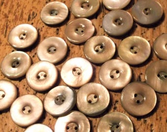 Vintage Mother of Pearl Buttons, Set of 24