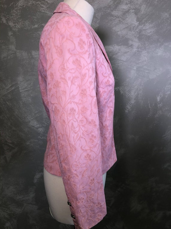 Vintage VERSACE Jeans Couture  Pink Blazer Size S… - image 3
