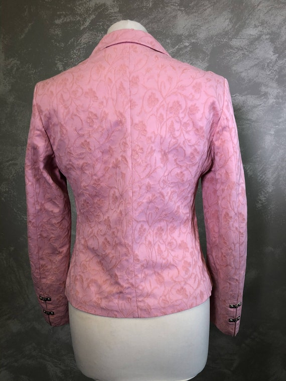 Vintage VERSACE Jeans Couture  Pink Blazer Size S… - image 2
