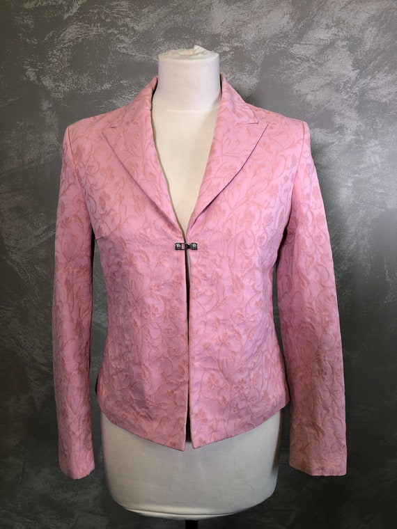 Vintage VERSACE Jeans Couture  Pink Blazer Size S… - image 1