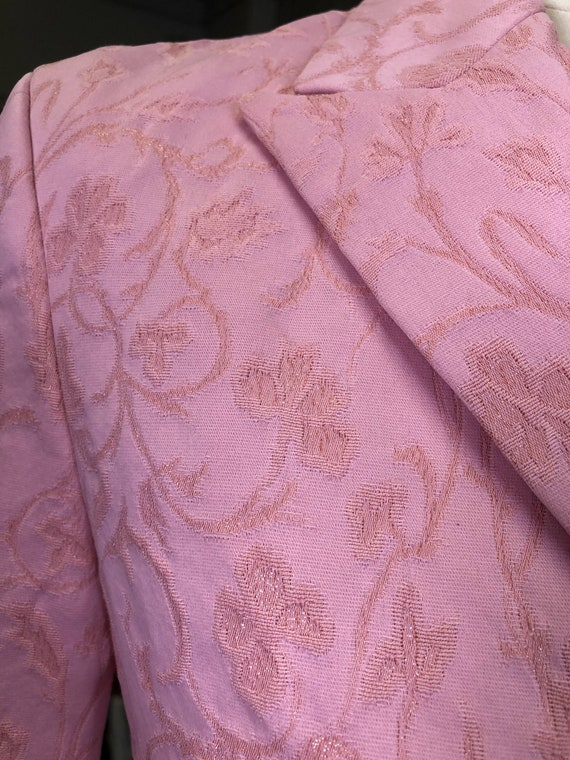 Vintage VERSACE Jeans Couture  Pink Blazer Size S… - image 5