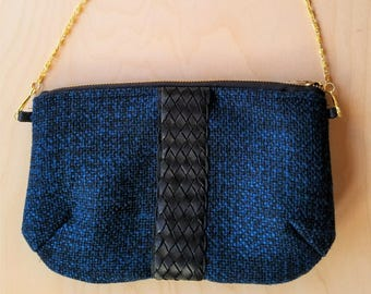 Handcrafted Wool Purse with Detachable Chain Strap// Wool Clutch