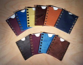 Leather Credit Card Cash Business Card Holder