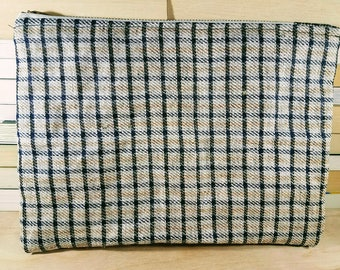 Handcrafted Waxed Linen Soft Clutch