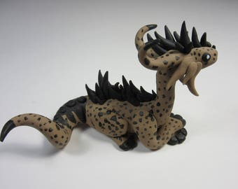 Tan and Black Spotted Dragon