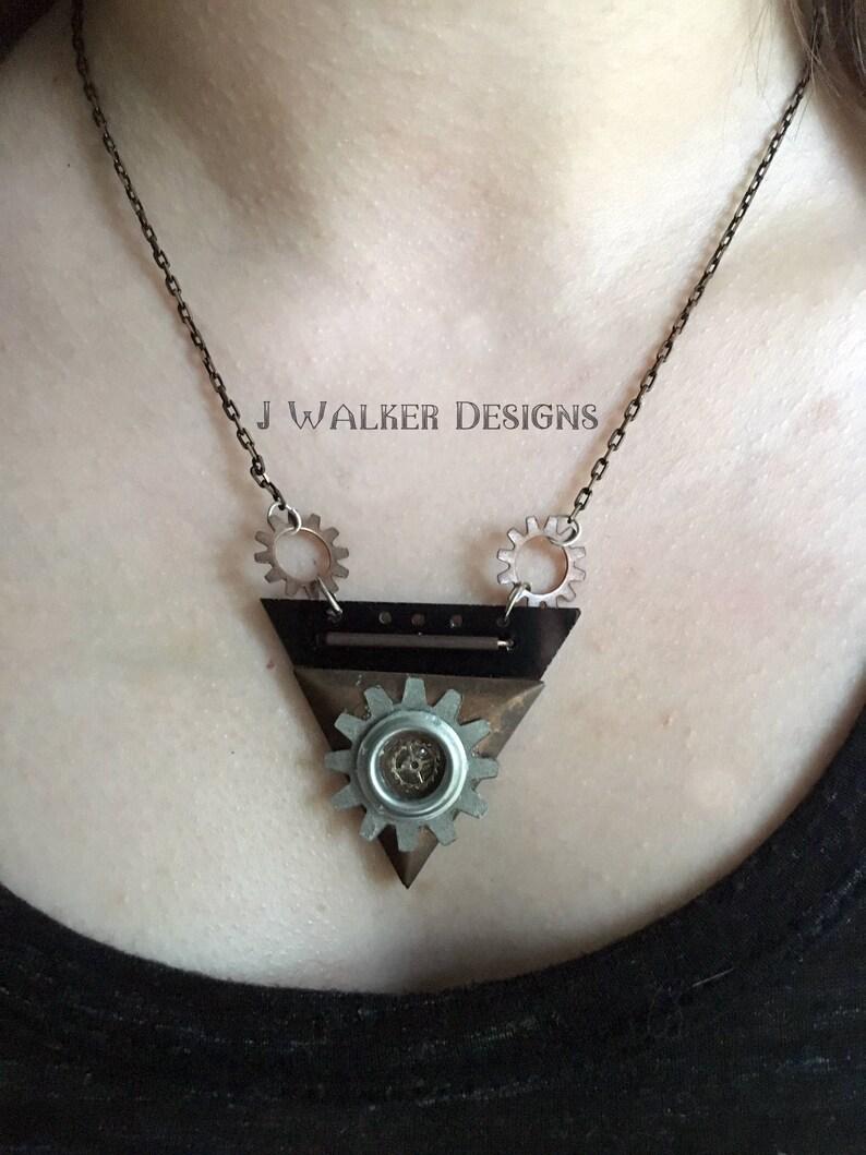 Triangular Steampunk Necklace
