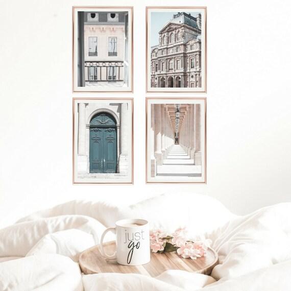 Paris Set of 4 Wall Art Prints // Fine Art Gallery Wall //   Etsy