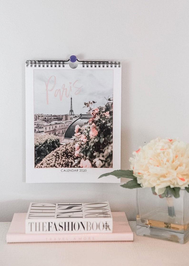 Best Gifts For College Students 2020.Paris 2020 Desk Or Wall Calendar College Student Travel Gift