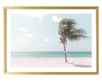 Barbados Wall Art Beach Photography Palm Tree Modern Home Decor Print