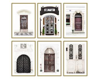 Neutral Wall Decor Prints Set of 6 Piece Wall Art Prague Doors Travel Photography