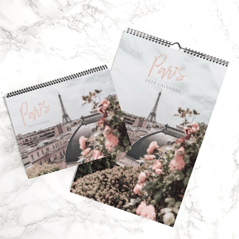 Best Gifts For College Students 2020 Paris 2020 Desk or Wall Calendar College Student Travel Gift | Etsy