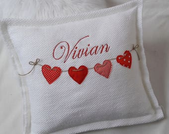 personalized pillows, typography pillow, heart throw pillow, wedding gift, velvet pillow, decorative pillows, monogram pillow, pillow hearts