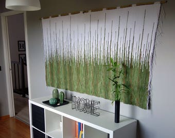 large wall hanging, handmade headboard, woven wall hanging, wall tapestry, macrame wall hanging, woven wall decor, textile wall art,