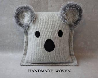 Koala pillow, decorative pillows, throw pillow, nursery decor, gift idea, housewarming gift, vacation home decor, birthday gift, best seller