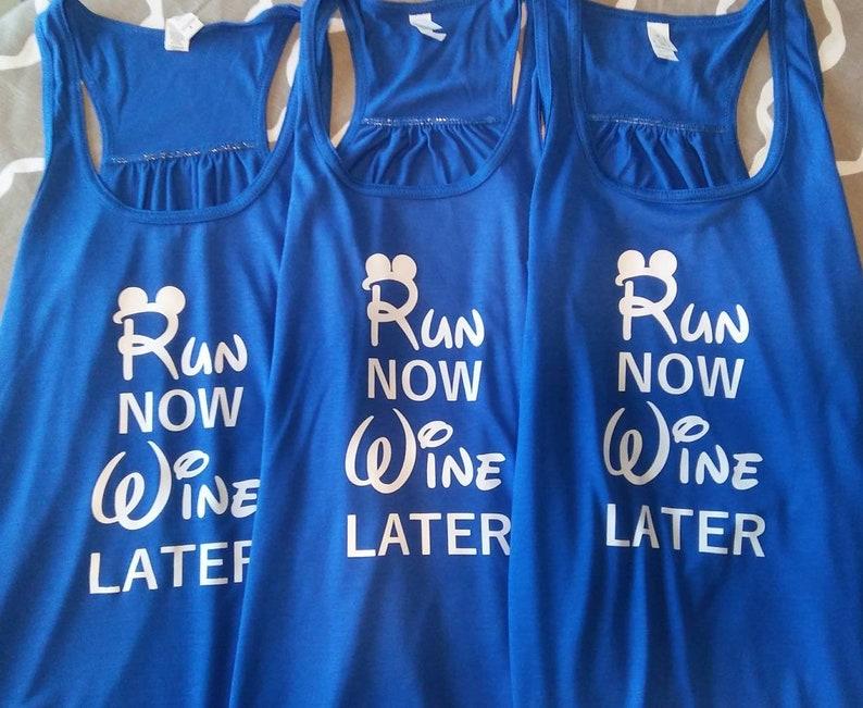 48f66ba8fe7691 Run Now Wine Later Flowy racerback workout tank Run Disney
