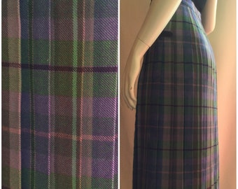 Glenisla Classics Purple Plaid Pleated Skirt