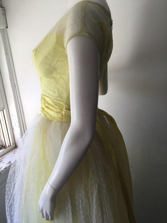 1950s Yellow Prom Dress