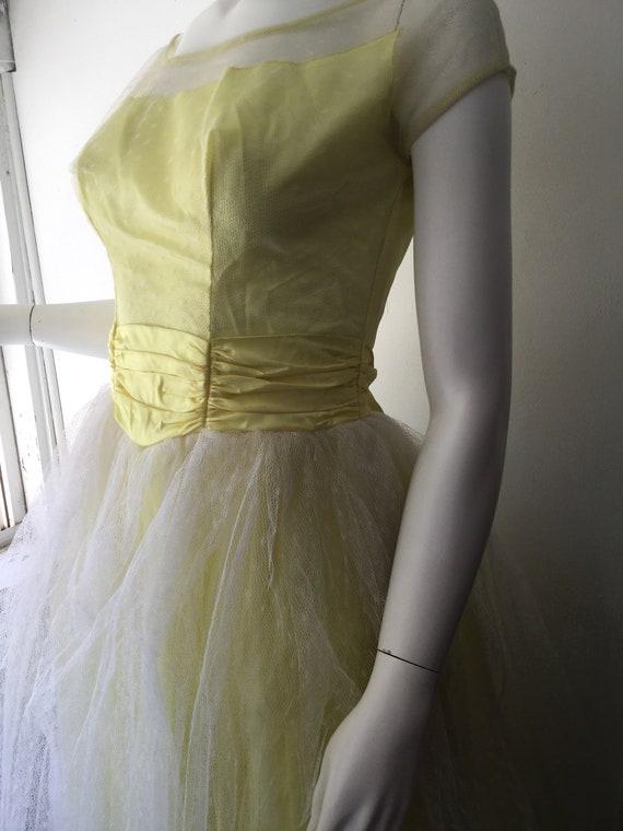 1950s Yellow Prom Dress - image 5