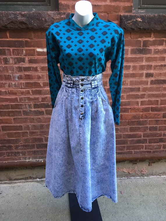 Gloria Vanderbilt Acid Wash Skirt