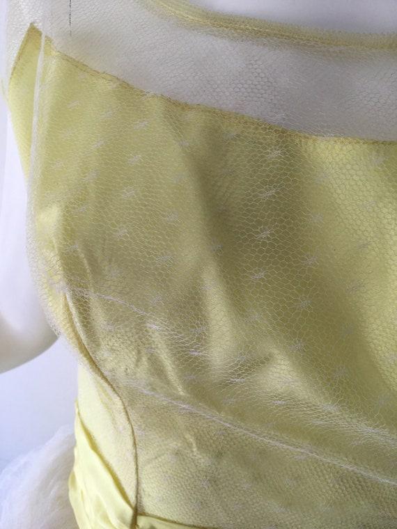 1950s Yellow Prom Dress - image 3