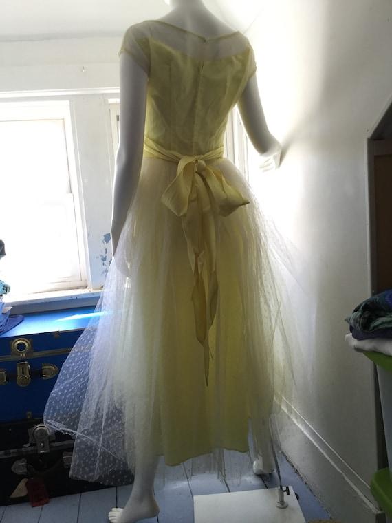 1950s Yellow Prom Dress - image 6