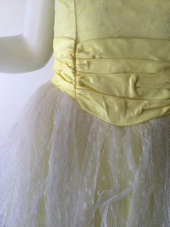 1950s Yellow Prom Dress - image 4