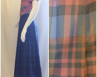 Pendleton Plaid Pleated Skirt