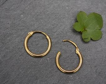7254547fa10 10mm tiny gold hoops earrings, tiny gold hoops, small hoops, mini hoop  earrings, gold hoop, 10mm hoops, little hoops, minimalist earrings