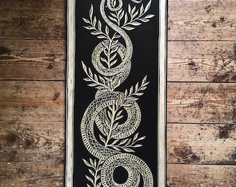 Made to order Snake Woodcut
