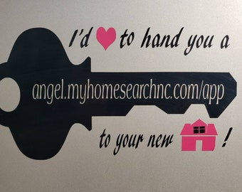 Customized Real Estate car decal