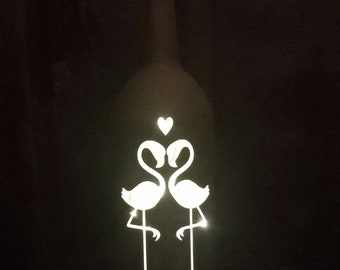 Wine bottle with lights