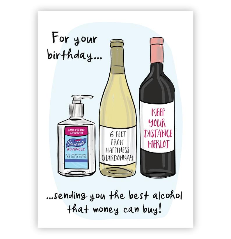 Printable Birthday Card JPG Quarantine Card Downloadable Happy Birthday Happy Birthday Card Printable,Envelope Social Distancing Card