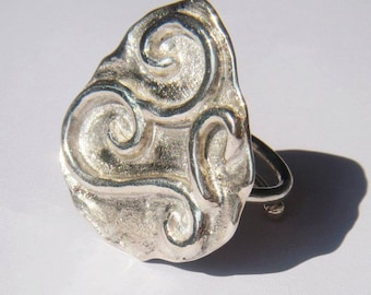 Iliad - sterling silver ring.