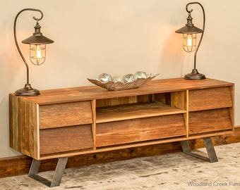 Modern Reclaimed Wood Entertainment Center