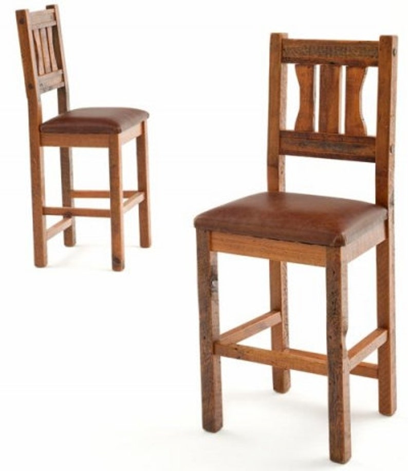 Fabulous Rustic Barnwood Mission Style Bar Stool Pdpeps Interior Chair Design Pdpepsorg