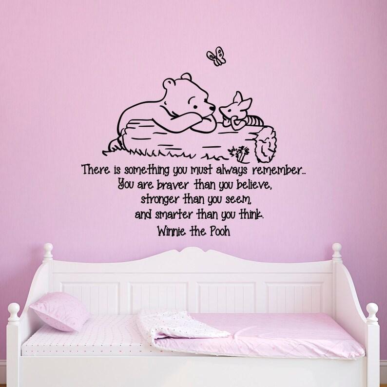 Muurstickers Winnie The Pooh Zwart Wit.Muur Stickers Quotes Winnie De Pooh Bent U Moediger Dan U Van Etsy