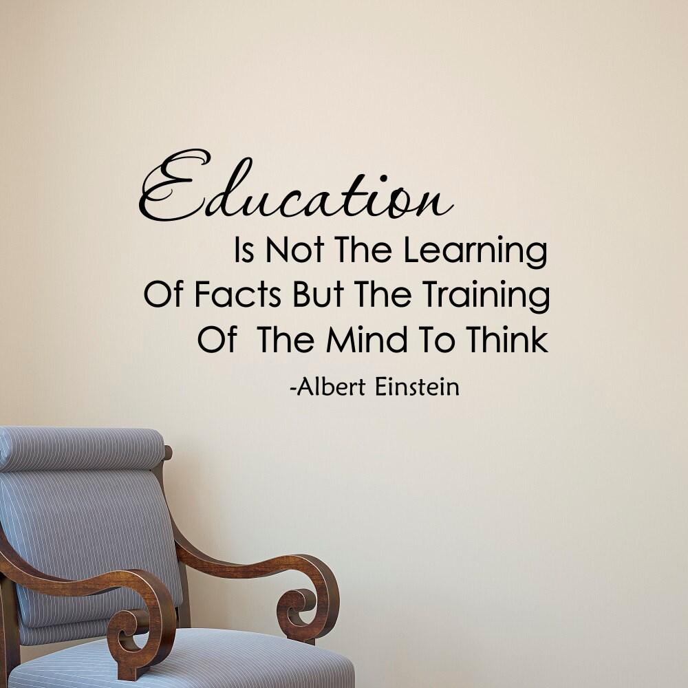 Albert Einstein Zitat Bildung ist nicht das Lernen von Fakten | Etsy