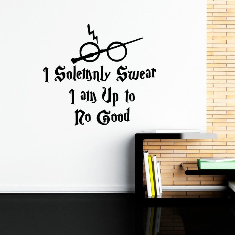 Harry Potter Wall Decal Quote I Solemnly Swear Hogwarts Wall Etsy