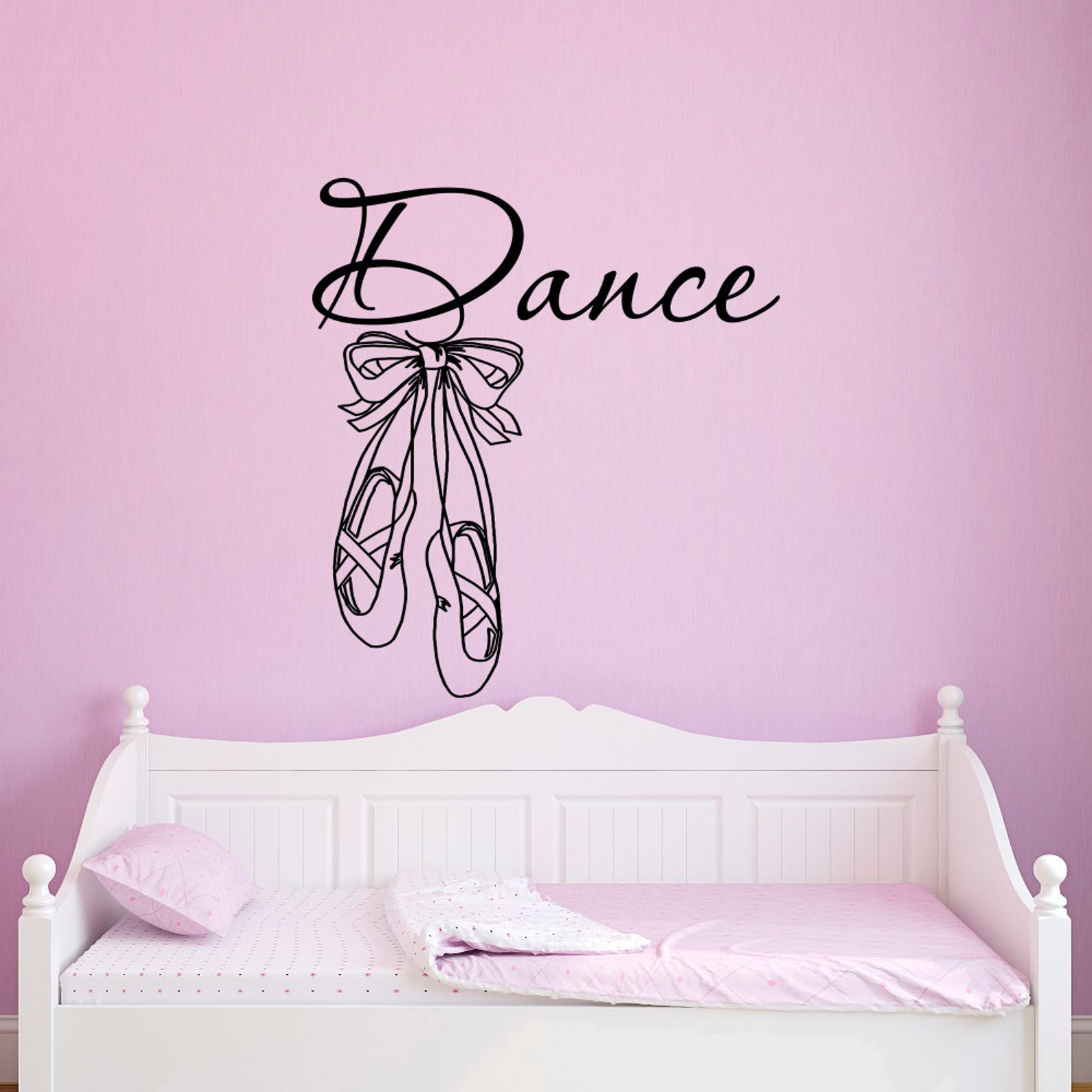 dance wall decals stickers ballet shoes slippers ballerina ballet wall decal girls bedroom nursery kids room ballet wall art hom