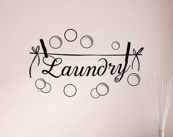 Laundry Room Wall Decal, Laundry Room Decal, Laundry Room Decor, Laundry Room Wall Decor, Laundry Room Signs, Laundry Signs Home Decor Q283
