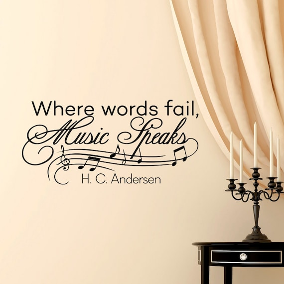 Music Notes Wall Decals Quotes Vinyl Lettering Where Words Etsy