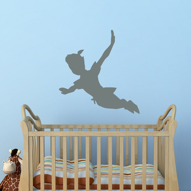 Adesivi Murali Peter Pan.Flying Peter Pan Ombra Parete Decalcomania Vinile Adesivo Peter Pan Sagoma Fantasy Favola Parete Decalcomanie Vivaio Bambini Biancheria Da Letto Home